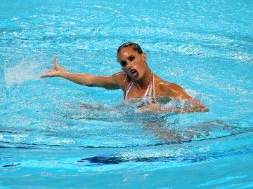 Ona Carbonell durante su ejercicio en Kazán
