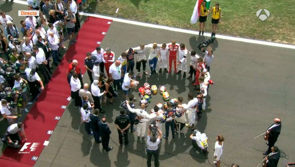 Minuto de silencio en homenaje a Jules Bianchi