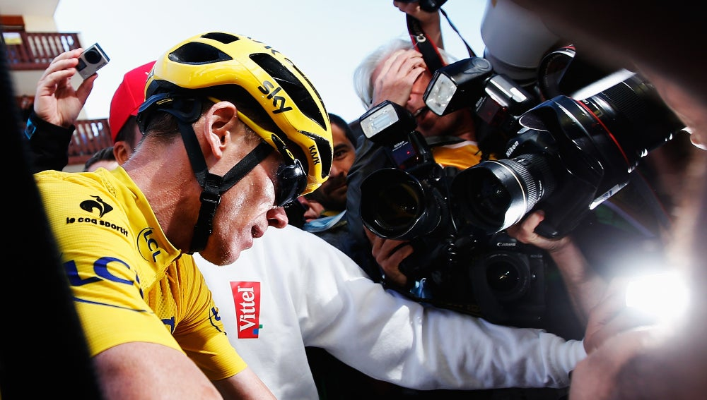 Chris Froome, tras la carrera de Alpe d'Huez