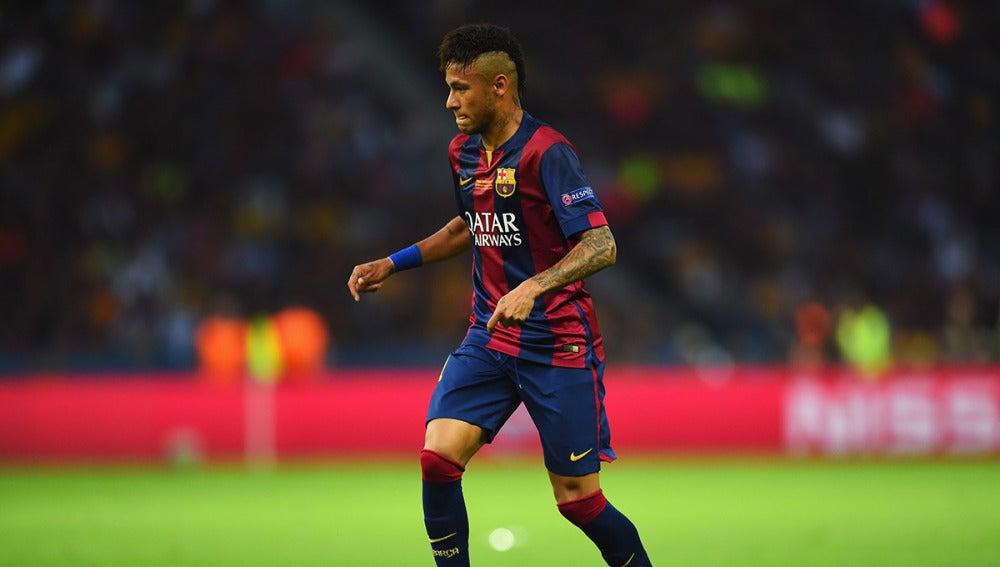 Neymar durante la final de la Champions ante la Juventus