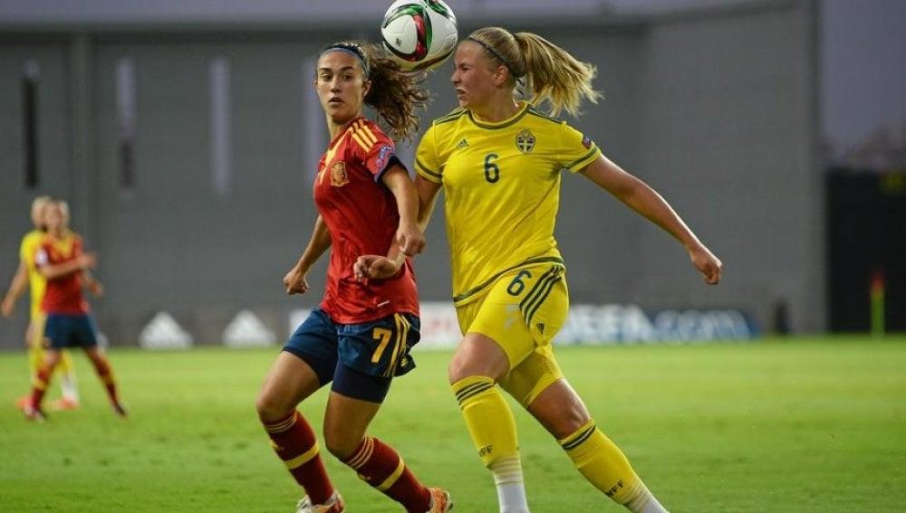 Un momento de la final entre España y Suecia