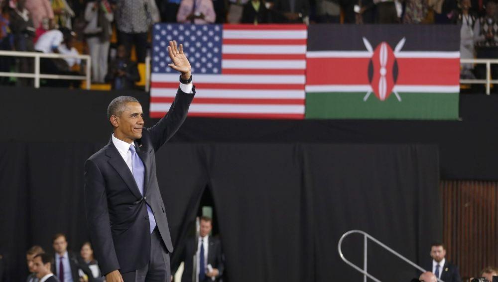Barack Obama, durante su visita a Kenia