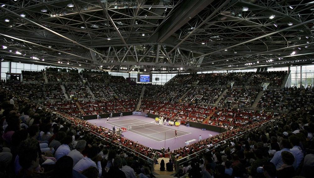 El Madrid Arena, durante un partido de tenis en 2006