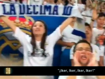 Los aficionados chinos corean a Iker Casillas