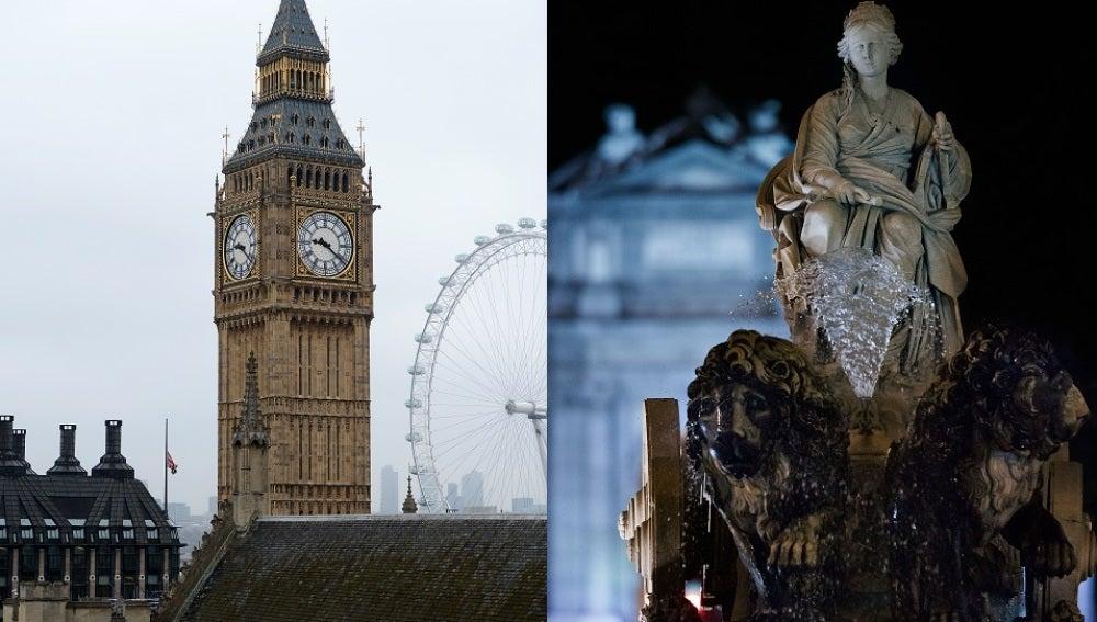 Símbolos de Londres y de Madrid