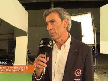 El 'Lobo' Carrasco, comentarista del equipo Champions Total