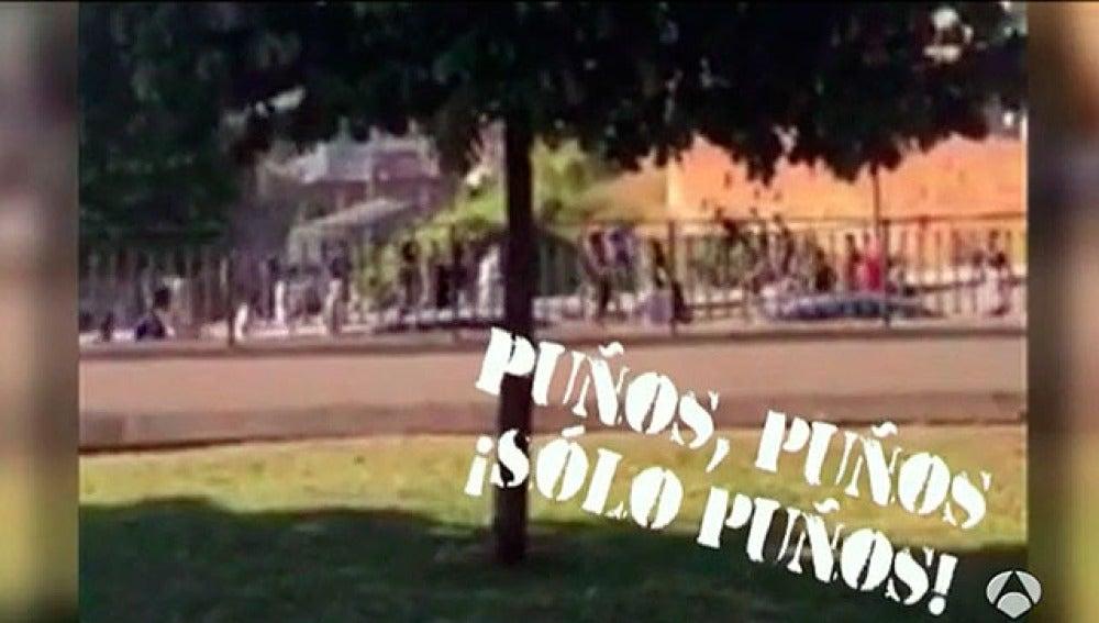 Pelea entre ultras del Atlético y el Oviedo