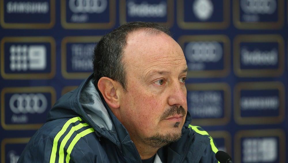 Rafa Benítez, durante una rueda de prensa