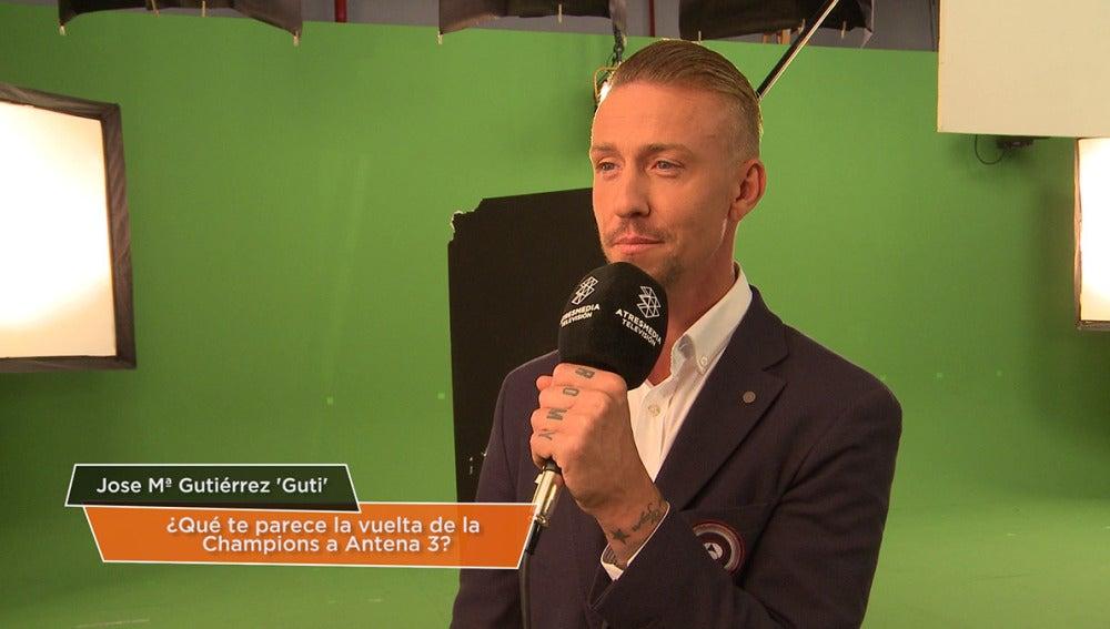 Guti, comentarista del equipo de Champions Total