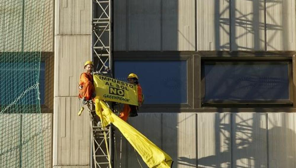 Greenpeace 'Impuesto al sol NO'