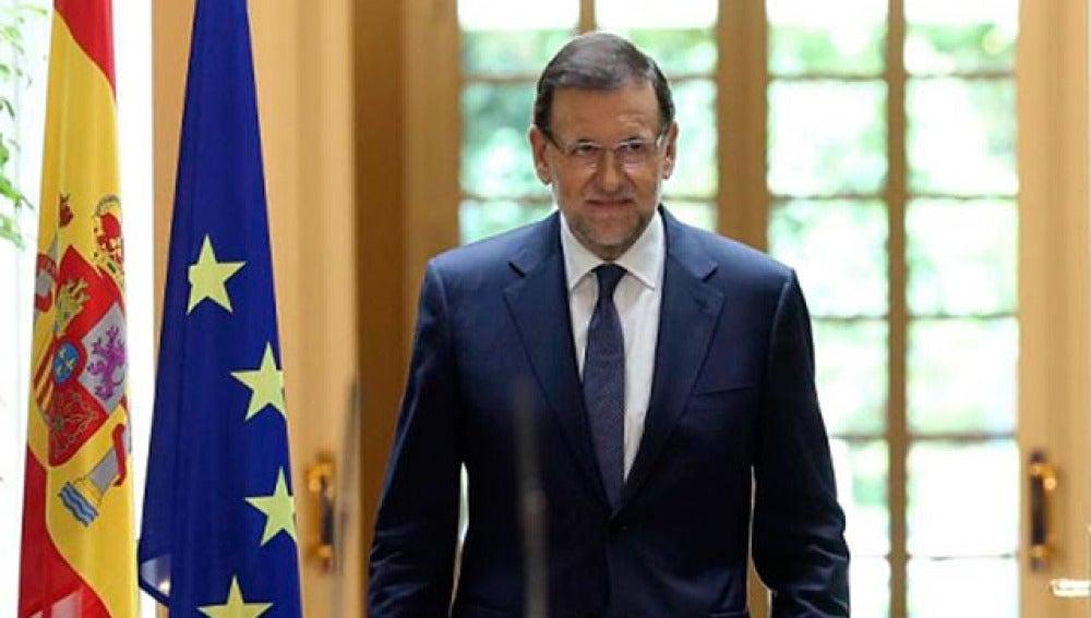 Mariano Rajoy, en su comparecencia en La Moncloa