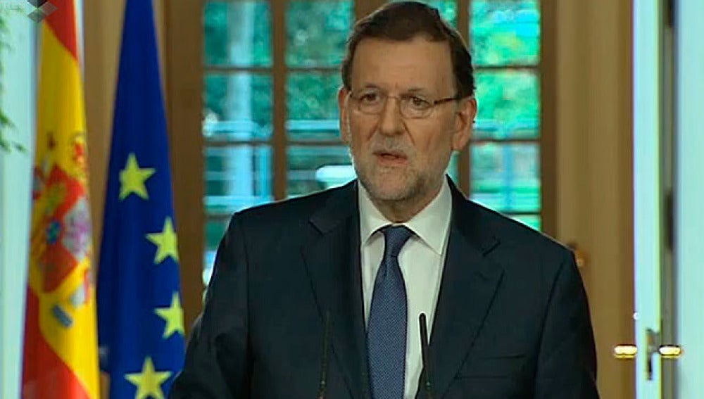 Mariano Rajoy responde a los medios en La Moncloa