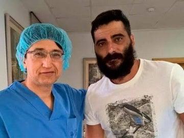 Dani Güiza, después de pasar el reconocimiento médico