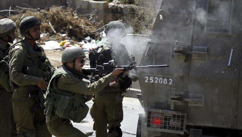 Disturbios entre el Ejército israelí y palestinos en Cisjordania