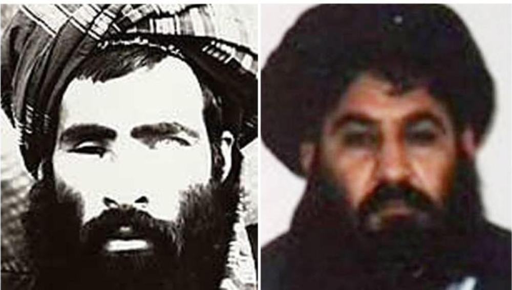El mulá Omar y su sucesor, el mulá Ajtar Mansur