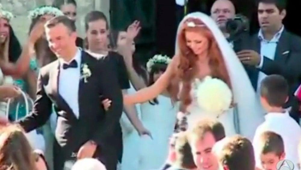 Jorge Mendes, durante su boda