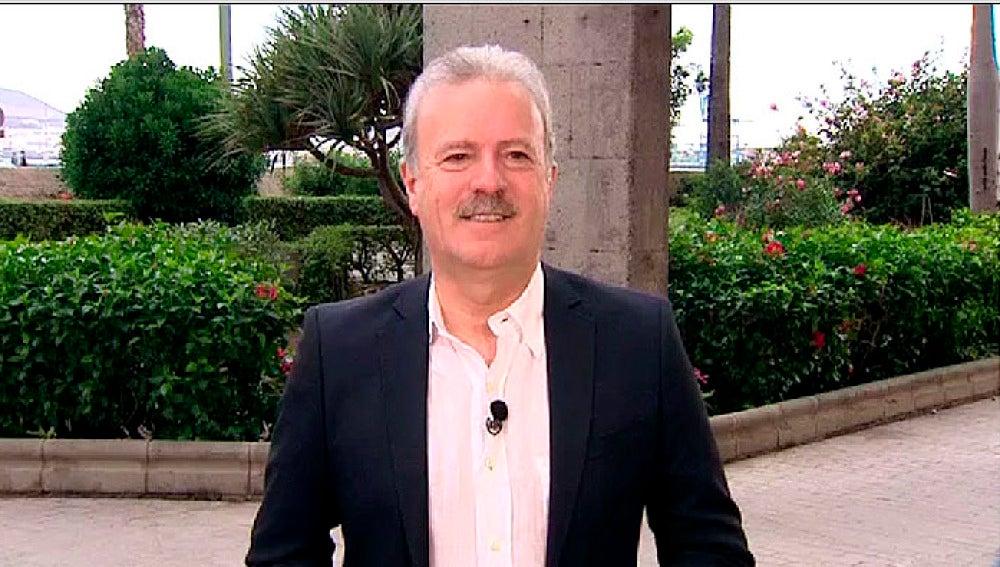 El periodista Manuel Campo Vidal durante una entrevista en Espejo Público