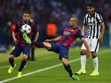 Mascherano en la final de la Champions ante la Juventus
