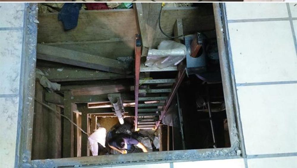 Imágenes del narcotúnel descubierto en Tijuana