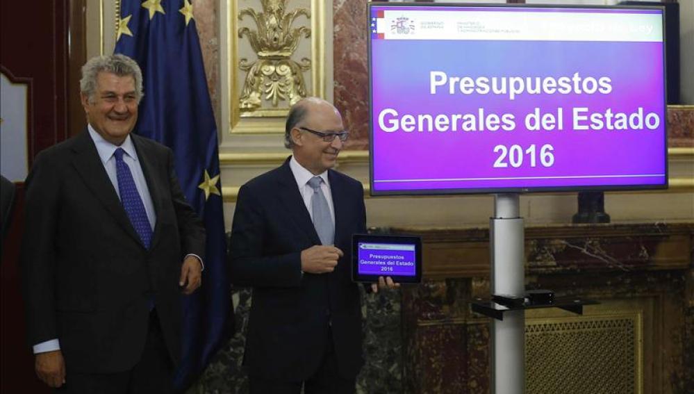 Montoro presenta los Presupuestos Generales del Estado