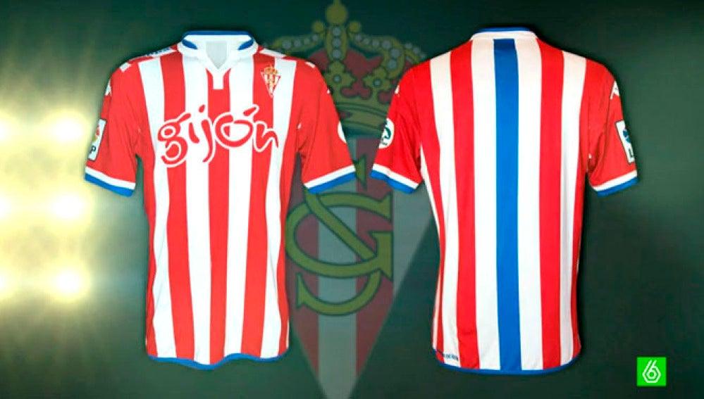La nueva y polémica camiseta del Sporting de Gijón