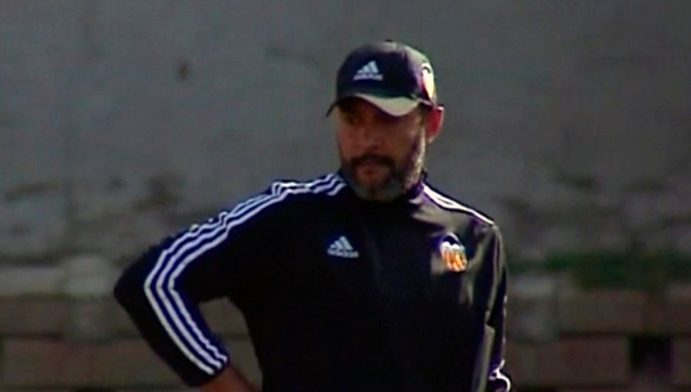 Nuno, durante el entrenamiento