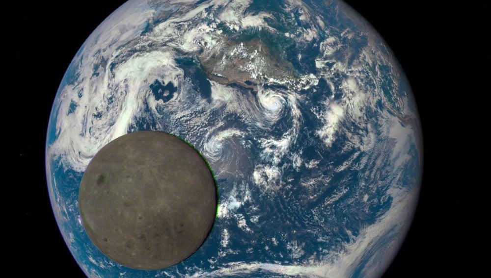 Imagen del lado oscuro de la luna tomada por la NASA