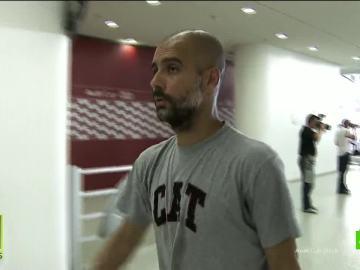 Pep Guardiola con la camiseta de Cataluña