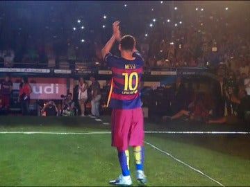 Messi, el más ovacionado en el Gamper