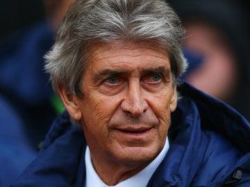 Manuel Pellegrini, técnico del Manchester United