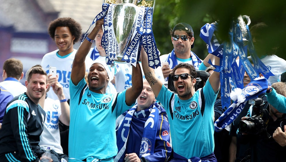 El Chelsea celebra el título de la temporada pasada