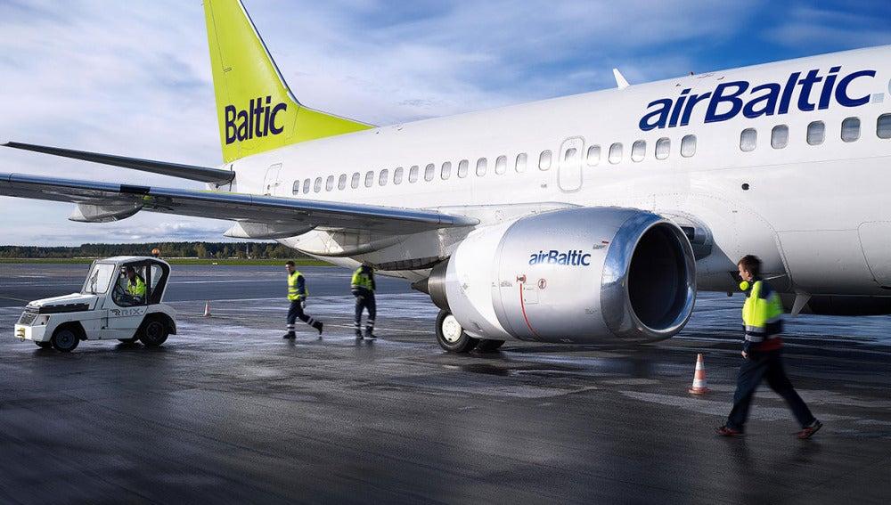 Un avión de la compañía Air Baltic