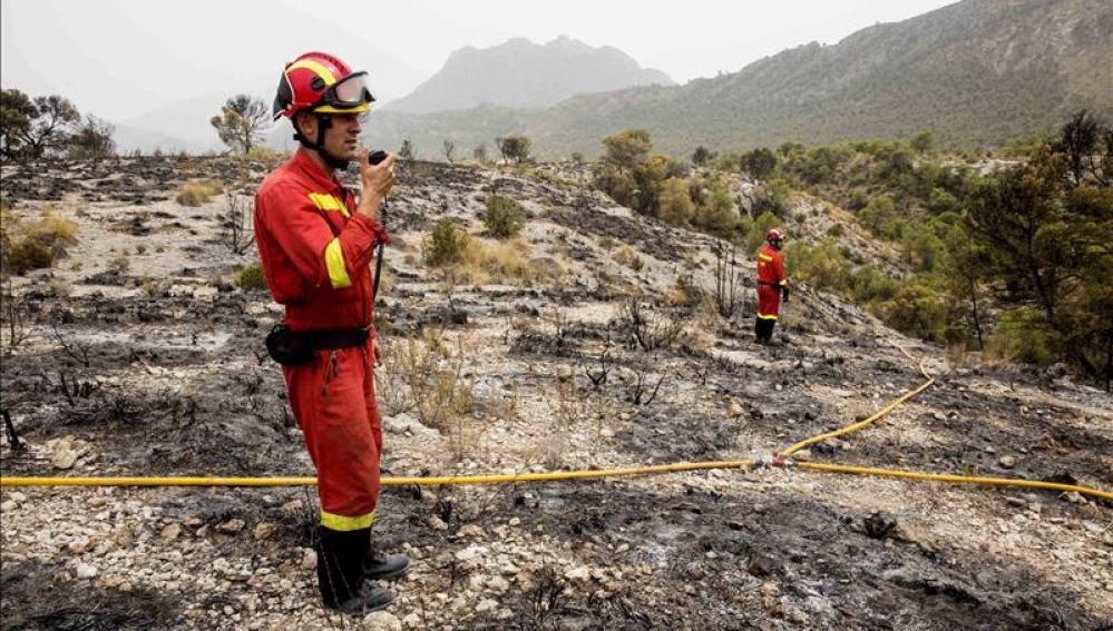 Incendio en Lorca
