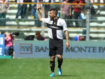 Cassano, en un partido con el Parma