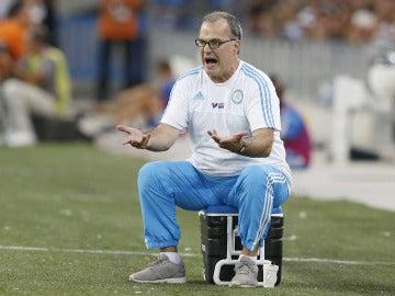 Bielsa, en su último partido como entrenador del Marsella