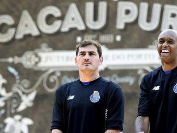 Casillas, durante su presentación con el Oporto