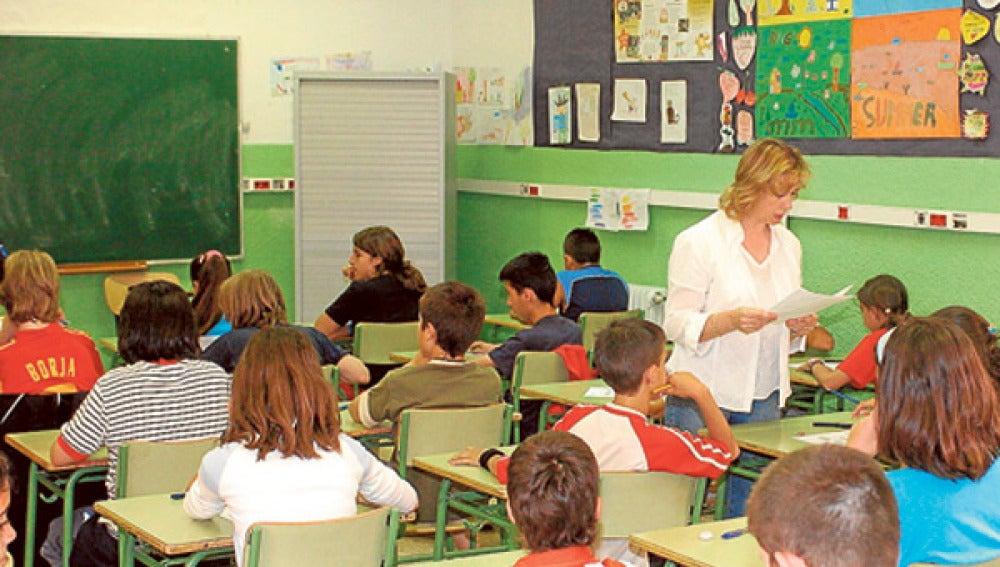 Profesora en un colegio