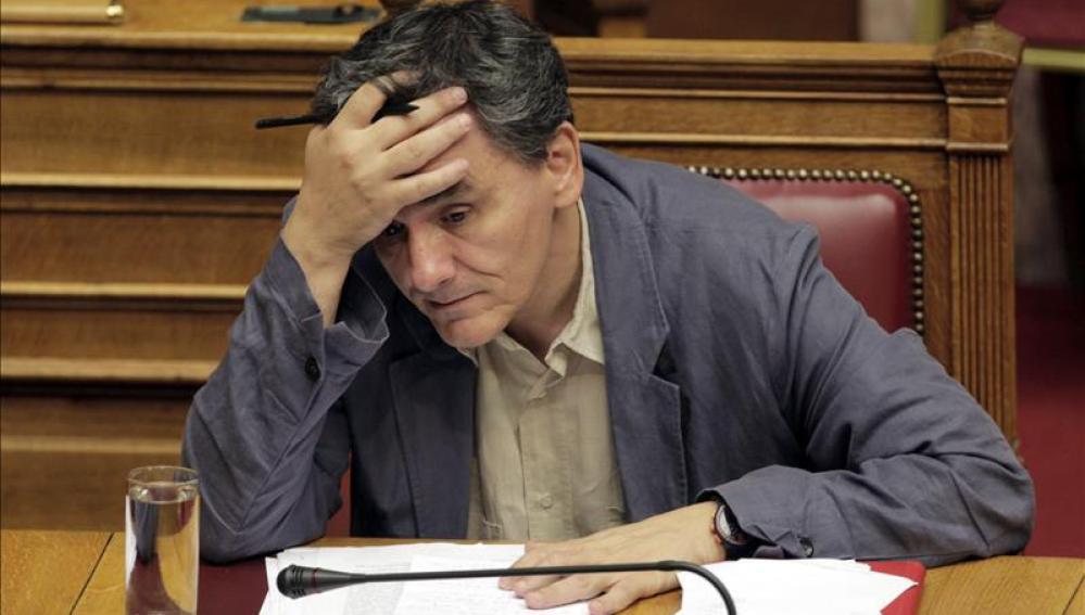 El ministro griego de Finanzas, Euclides Tsakalotos.