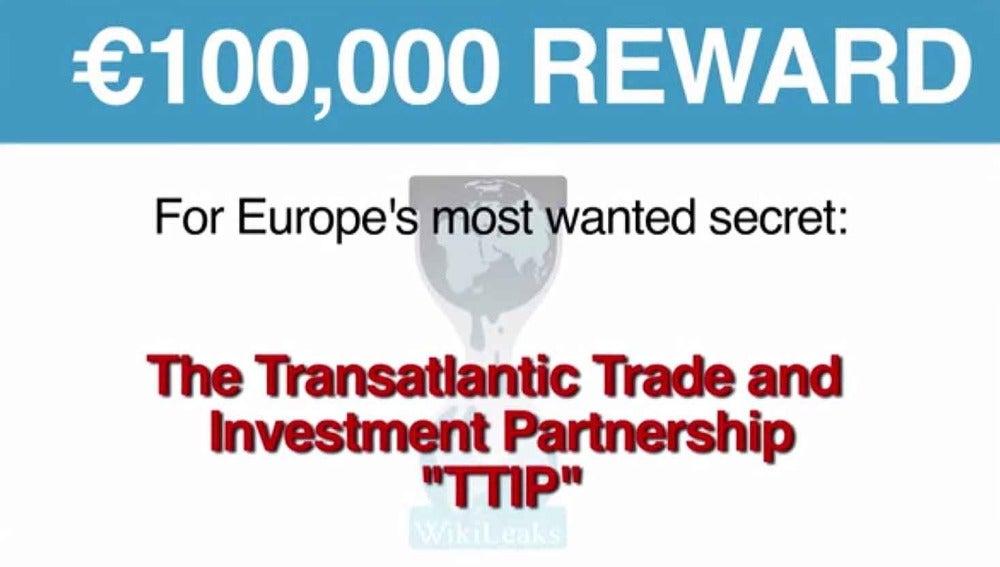 Campaña de Wikileaks para conseguir el documento del TTIP