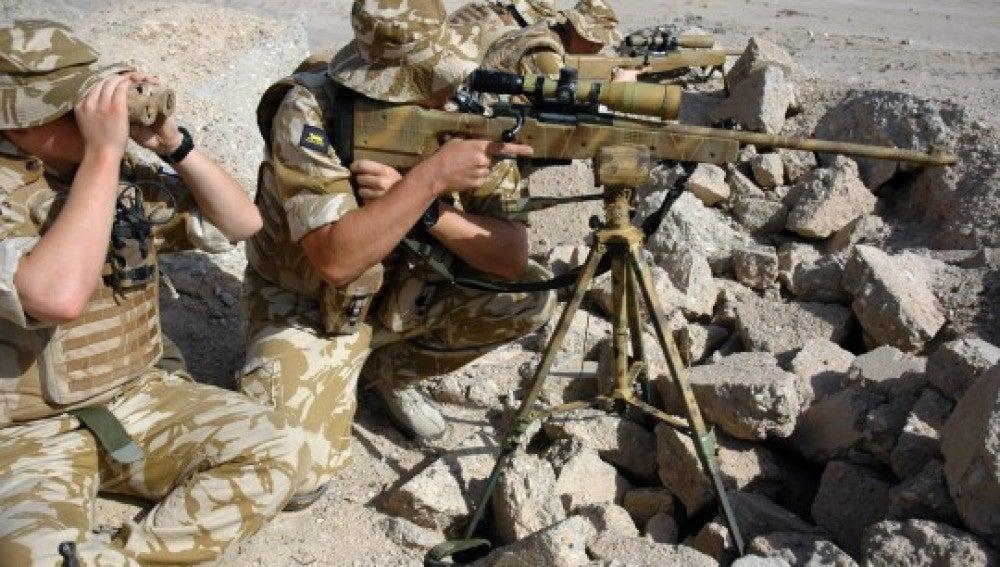 Imagen de archivo de francotiradores del SAS en Siria