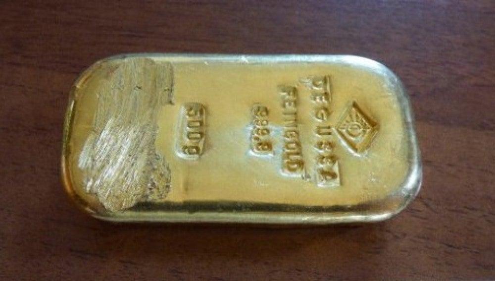 El lingote de oro hallado en Schönau