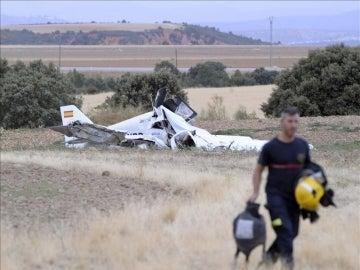 Estado en el que ha quedado la avioneta en la que tres personas han muerto