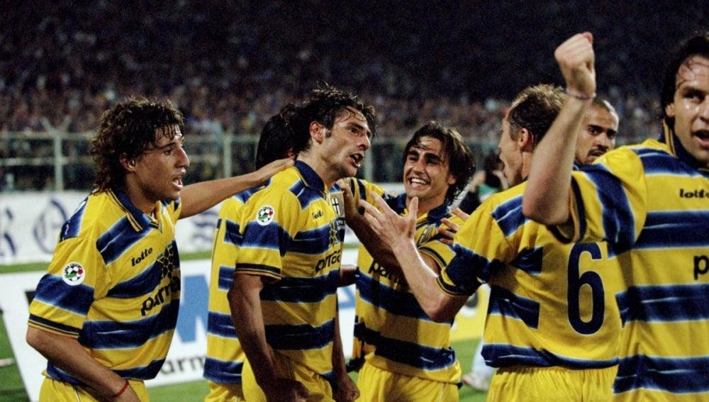 Crespo, Cannavaro, Verón... en un Parma histórico
