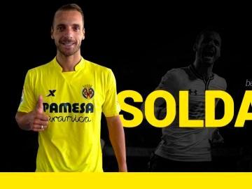 Roberto Soldado, con la camiseta del Villarreal