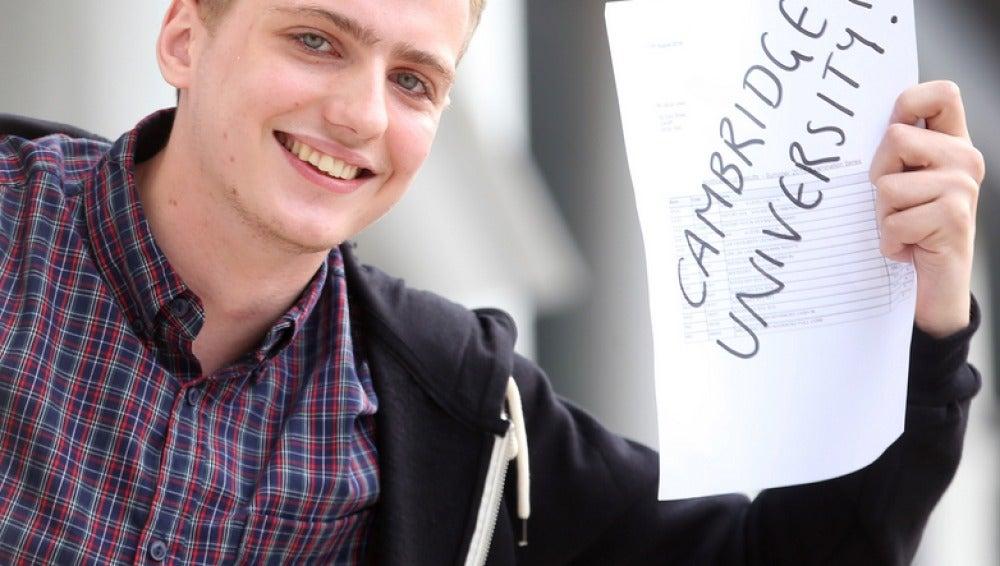 Un joven sin casa entra en la Universidad de Cambridge
