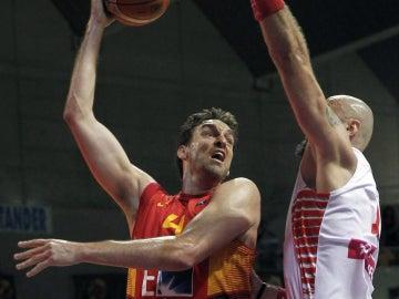 Gasol, en un partido con España