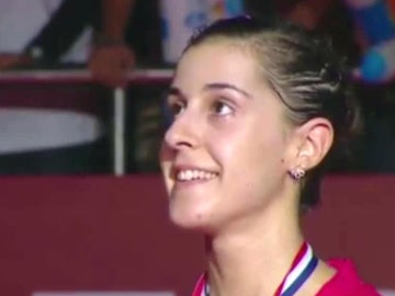 Carolina Marín, sonriente