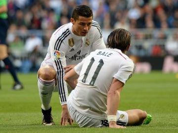 Cristiano Ronaldo y Gareth Bale, durante un partido de la pasada temporada