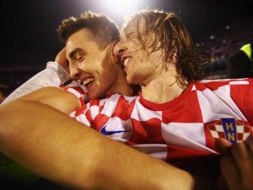 Kovacic y Modric en un partido de Croacia