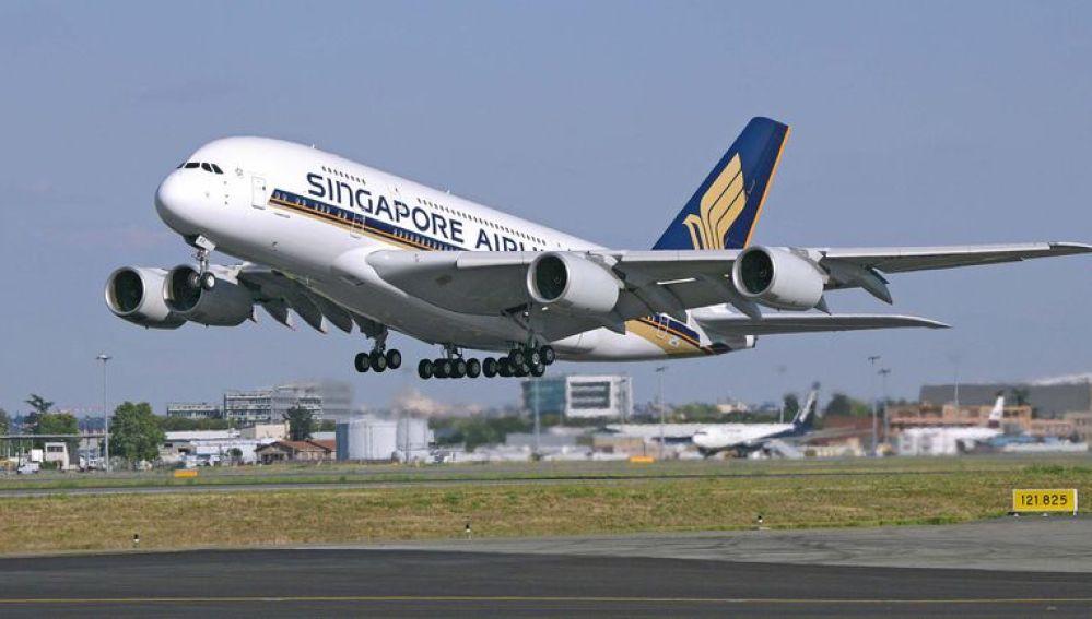 Avión de la compañía aérea Singapore Airlines